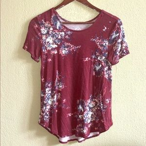Women's small floral top.